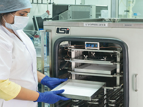 Freeze dryer for active biological substance, at R&D Centre, Thane.